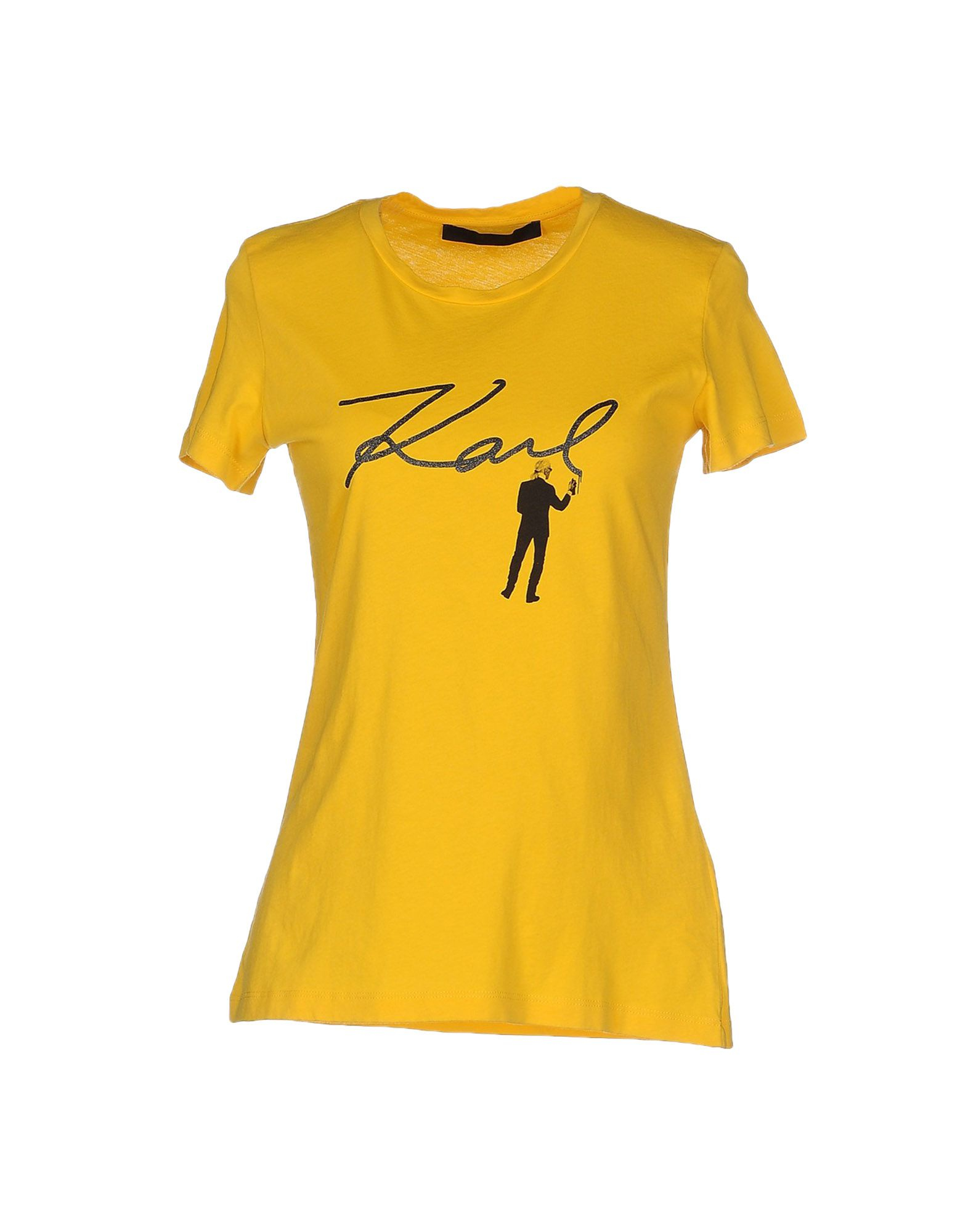 lyst karl lagerfeld t shirt in yellow. Black Bedroom Furniture Sets. Home Design Ideas