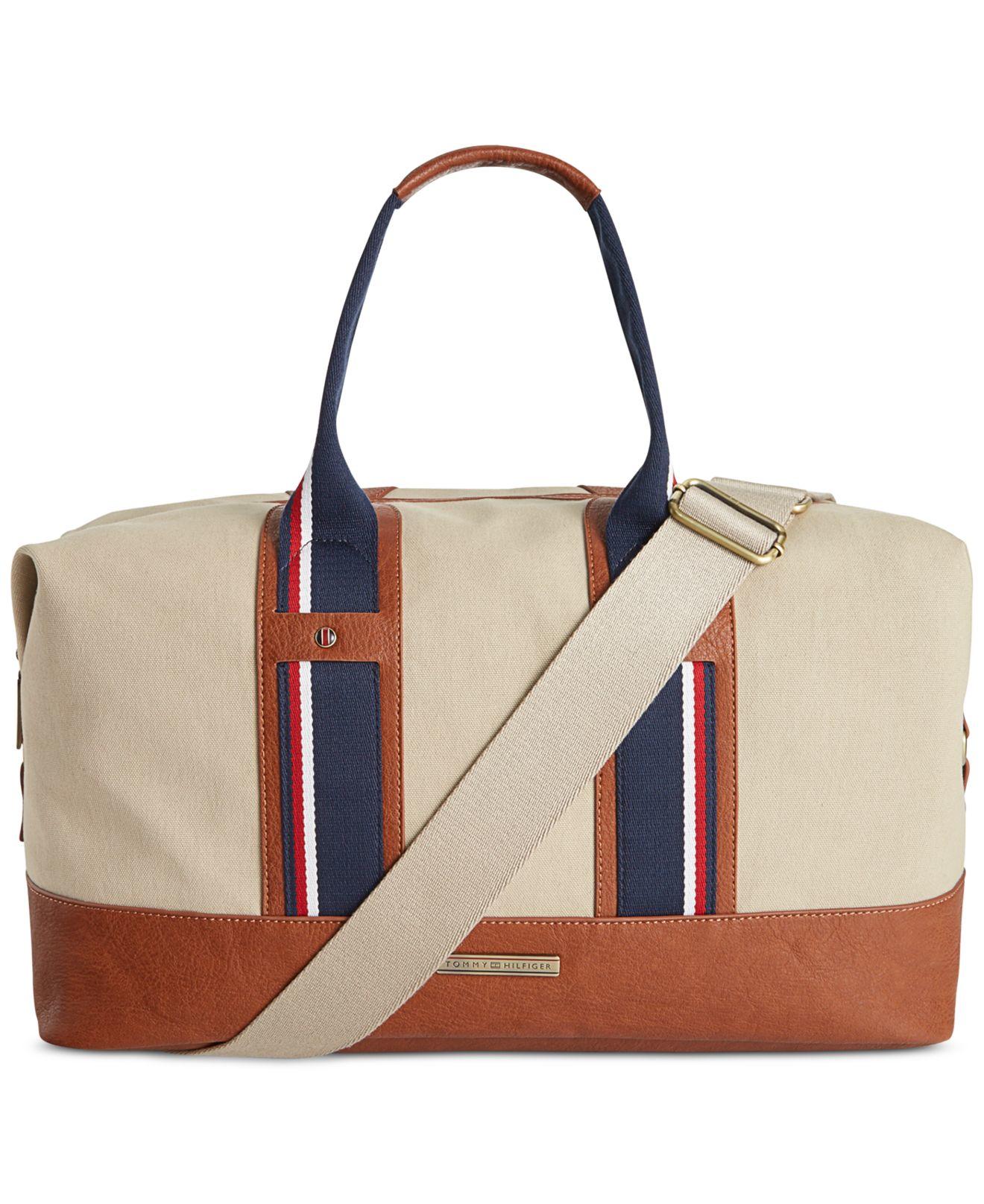 Lyst - Tommy Hilfiger Connor Weekender Bag in Natural for Men ff9e1b54244e8