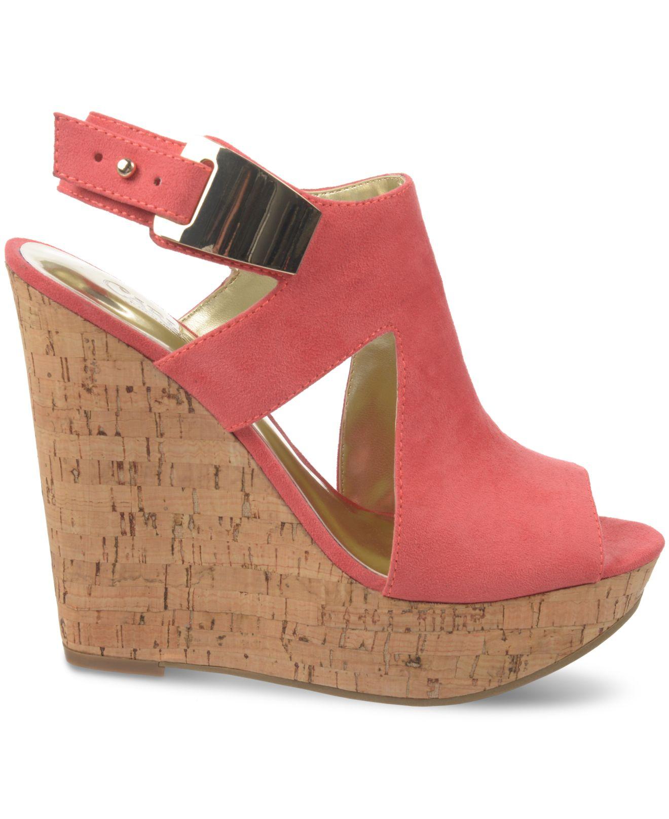 3b997e4d8b3a Lyst - Carlos By Carlos Santana Malor Platform Wedge Sandals in Red