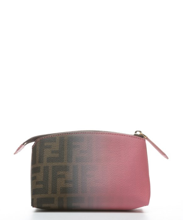 a4667bcc9b59 ... closeout lyst fendi pink and tobacco ombre degrade canvas cosmetic bag  in pink af963 59eac ...