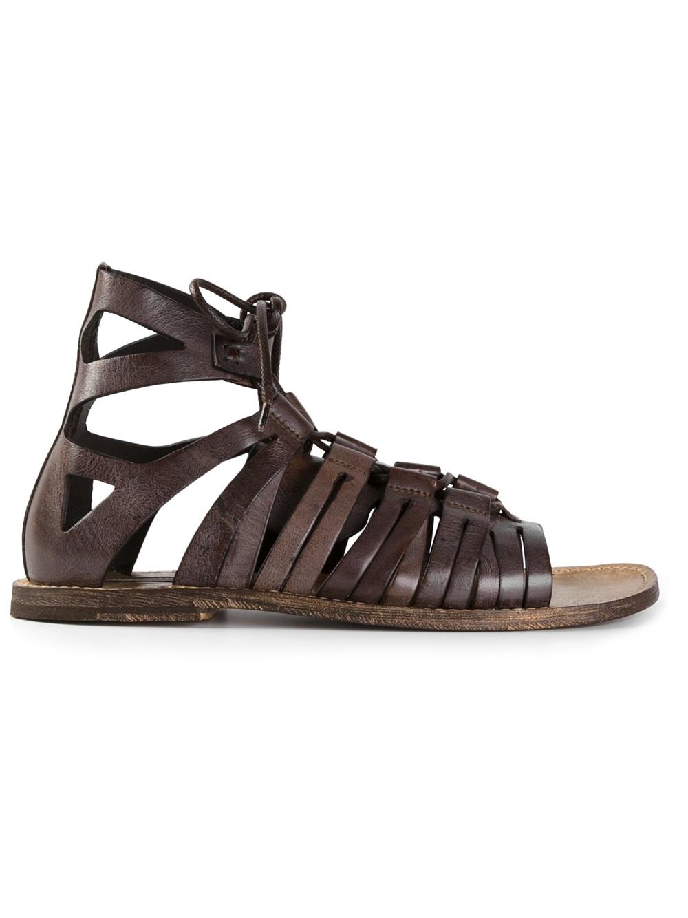 6cdefe248 Lyst - Dolce   Gabbana Gladiator Sandals in Brown for Men