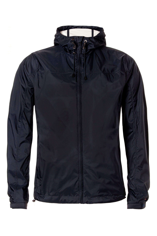 tommy hilfiger kacey hooded bomber jacket in blue for men. Black Bedroom Furniture Sets. Home Design Ideas