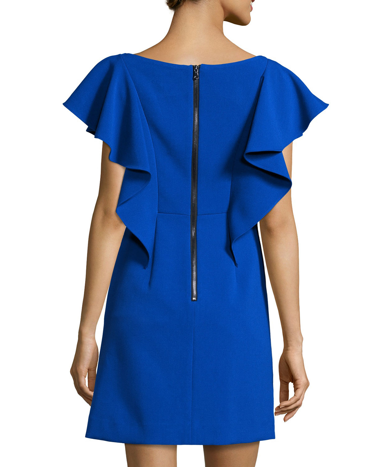 Cheap Fake Popular Milly ruffled sleeves dress Clearance Footaction Outlet Pre Order Shopping Online High Quality 05L2Bul