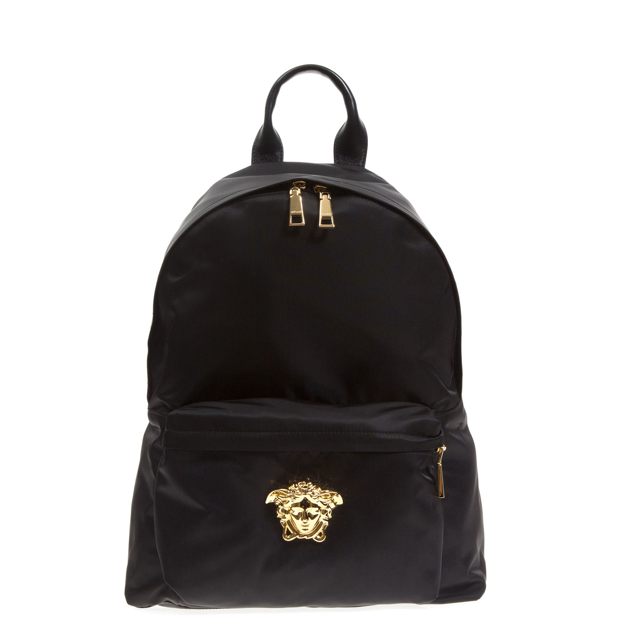 4c9e21dc3a5c Lyst - Versace Medusa Black Backpack in Black