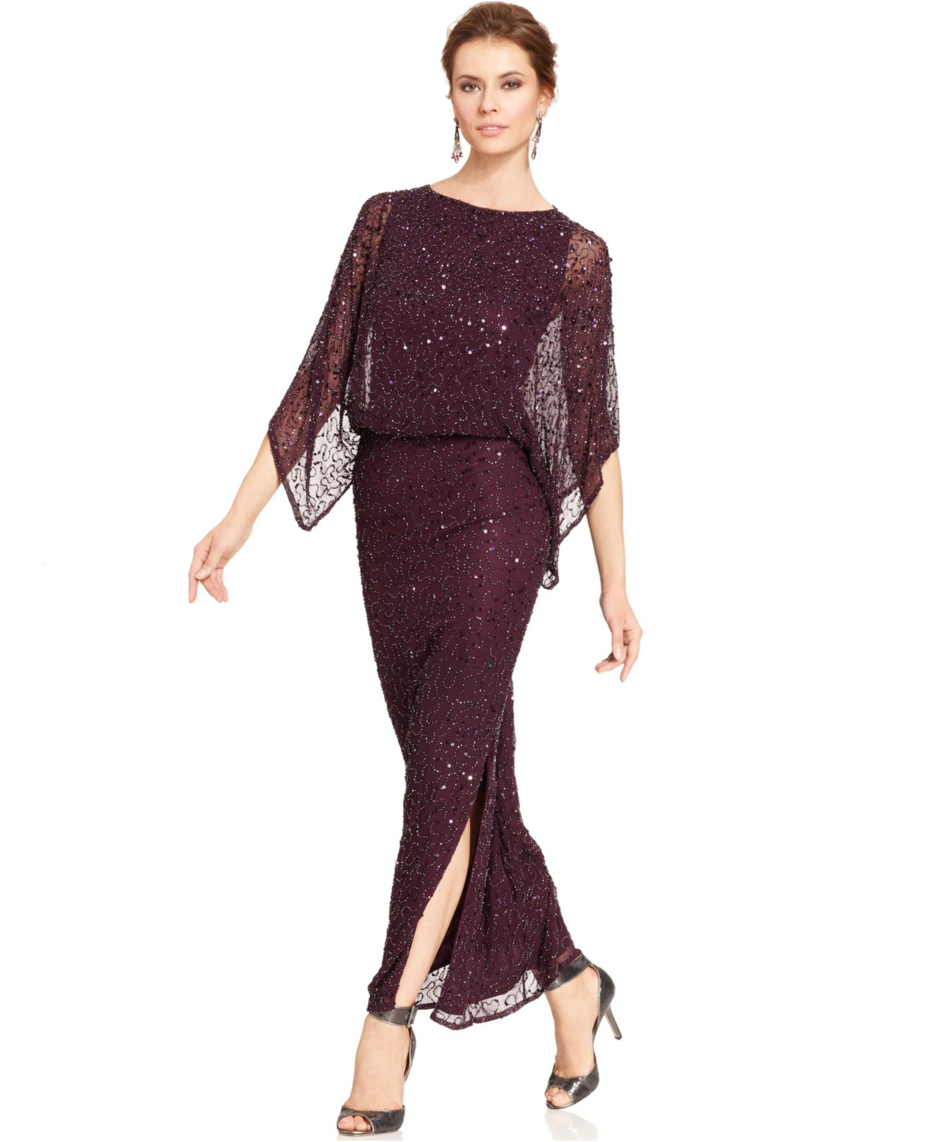 Set moreover Gold Dresses as well Dsquared2 Zipped Nappa Leather Long Dress Black moreover Patra Kimono Sleeve Beaded Blouson Gown Plum likewise Alex Evenings Long Off The Shoulder Stretch Taffeta Dress Red. on oscar de la renta dresses on sale