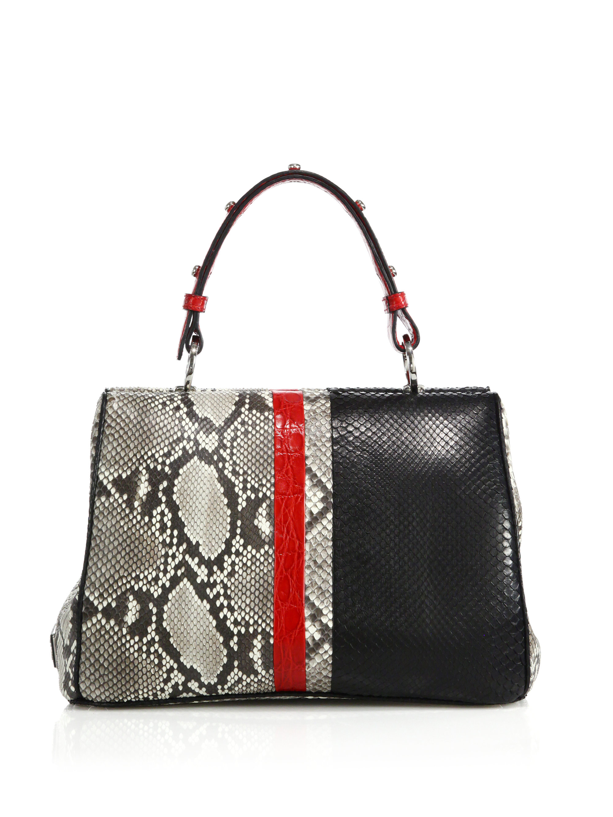 prada metallic frame bag