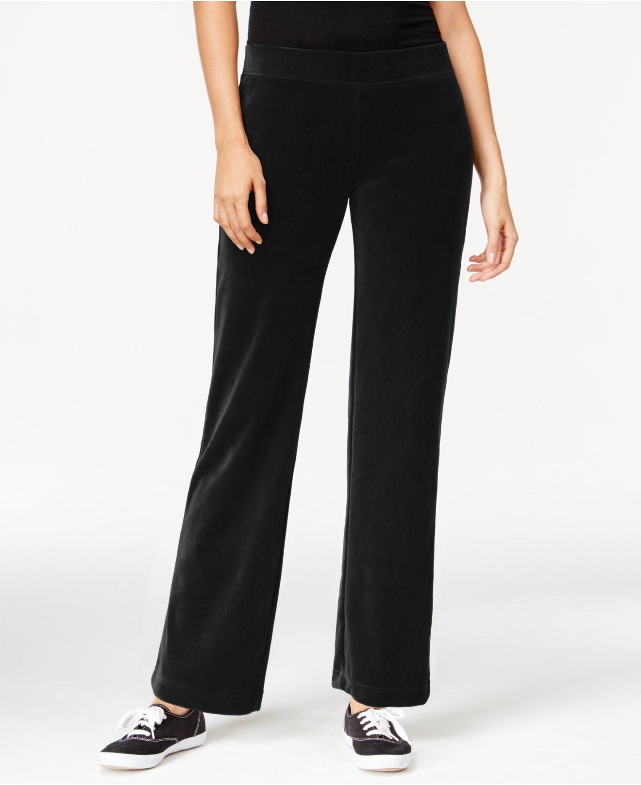 cca137e58da Lyst - Style   Co. Style co. Petite Pull-on Velour Pants
