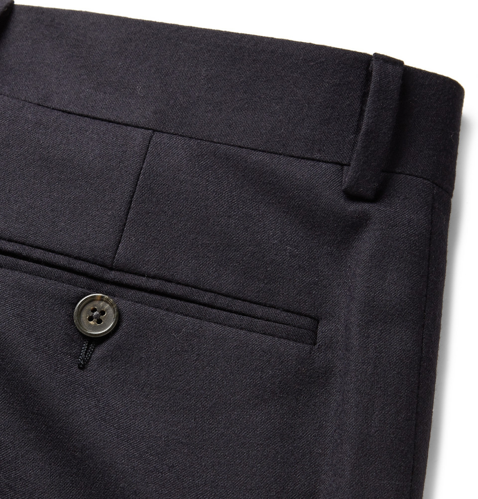polo ralph lauren navy slim fit wool suit trousers in blue. Black Bedroom Furniture Sets. Home Design Ideas