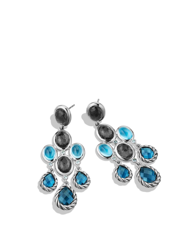 lyst david yurman ultramarine chandelier earrings with. Black Bedroom Furniture Sets. Home Design Ideas