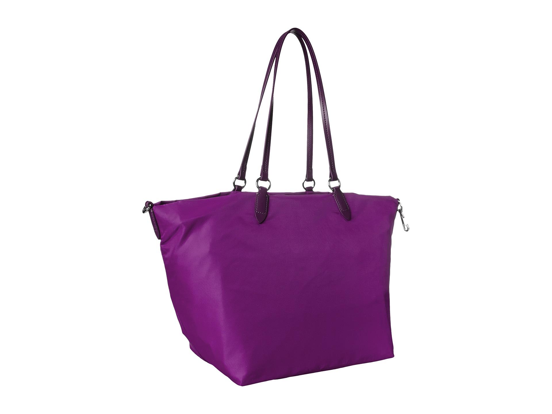 197819e90195c4 Lyst - Lacoste Izzie Medium Carry All Bag in Purple