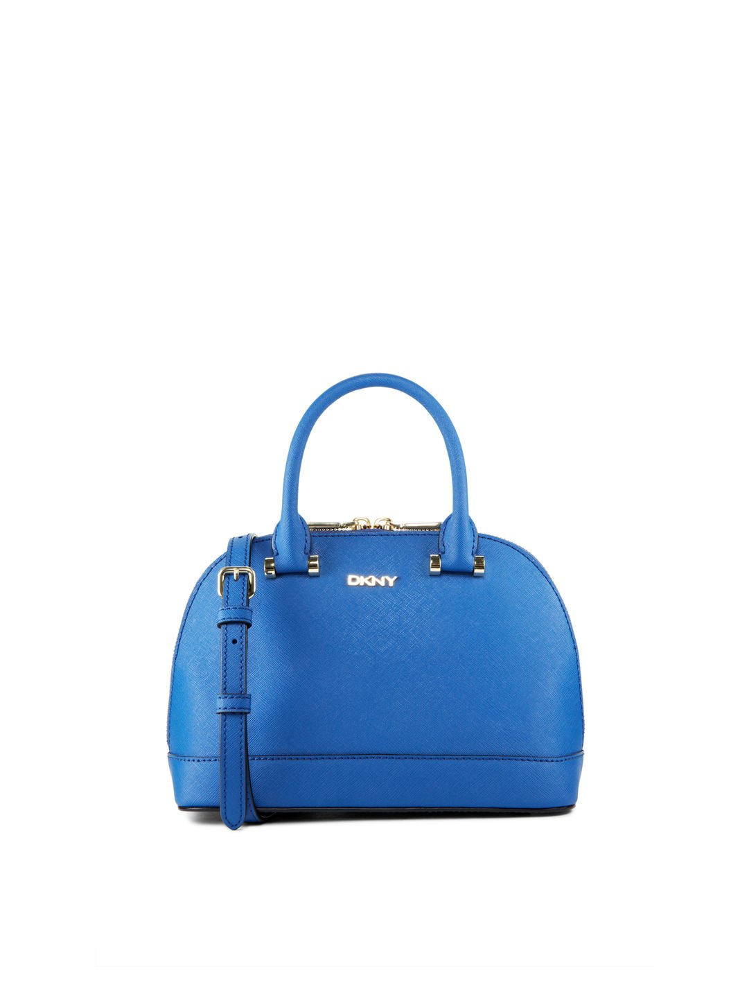 Dkny Saffiano Leather Mini Top Handle Bag in Blue | Lyst