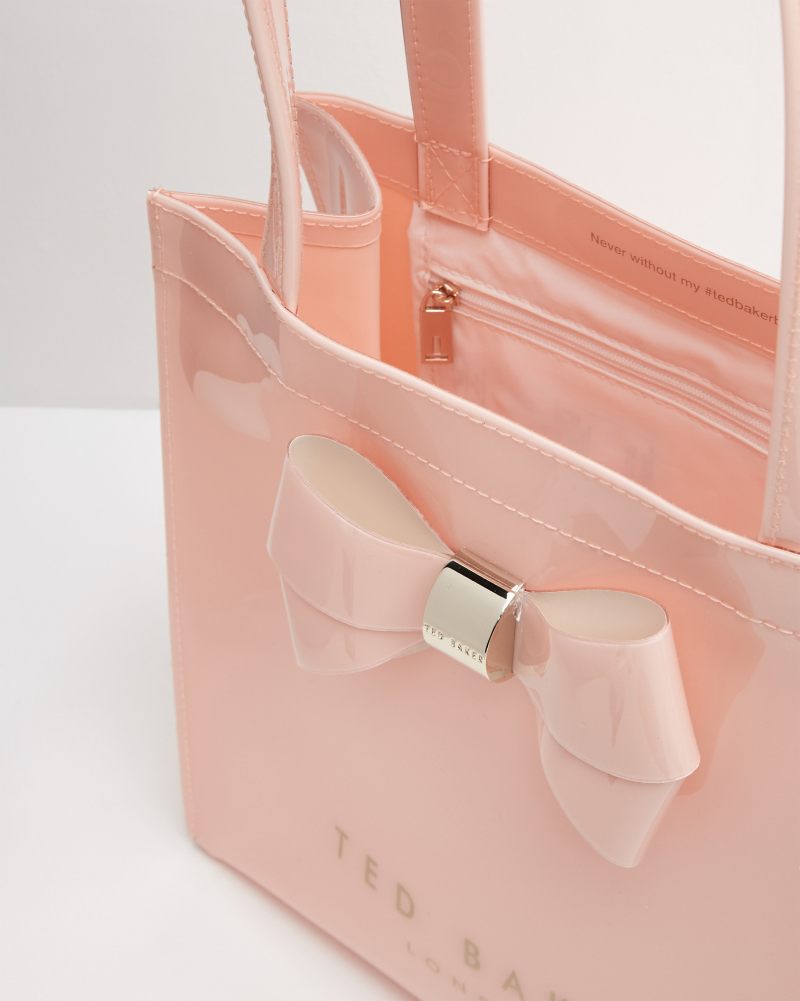 3c673305f147 Lyst - Ted Baker Bow Detail Small Shopper Bag in Pink