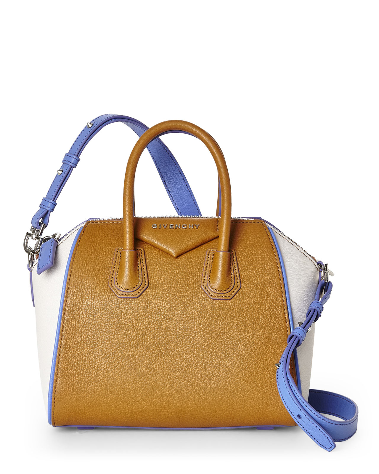 5fe1dcdafc Lyst - Givenchy Antigona Color Block Mini Satchel