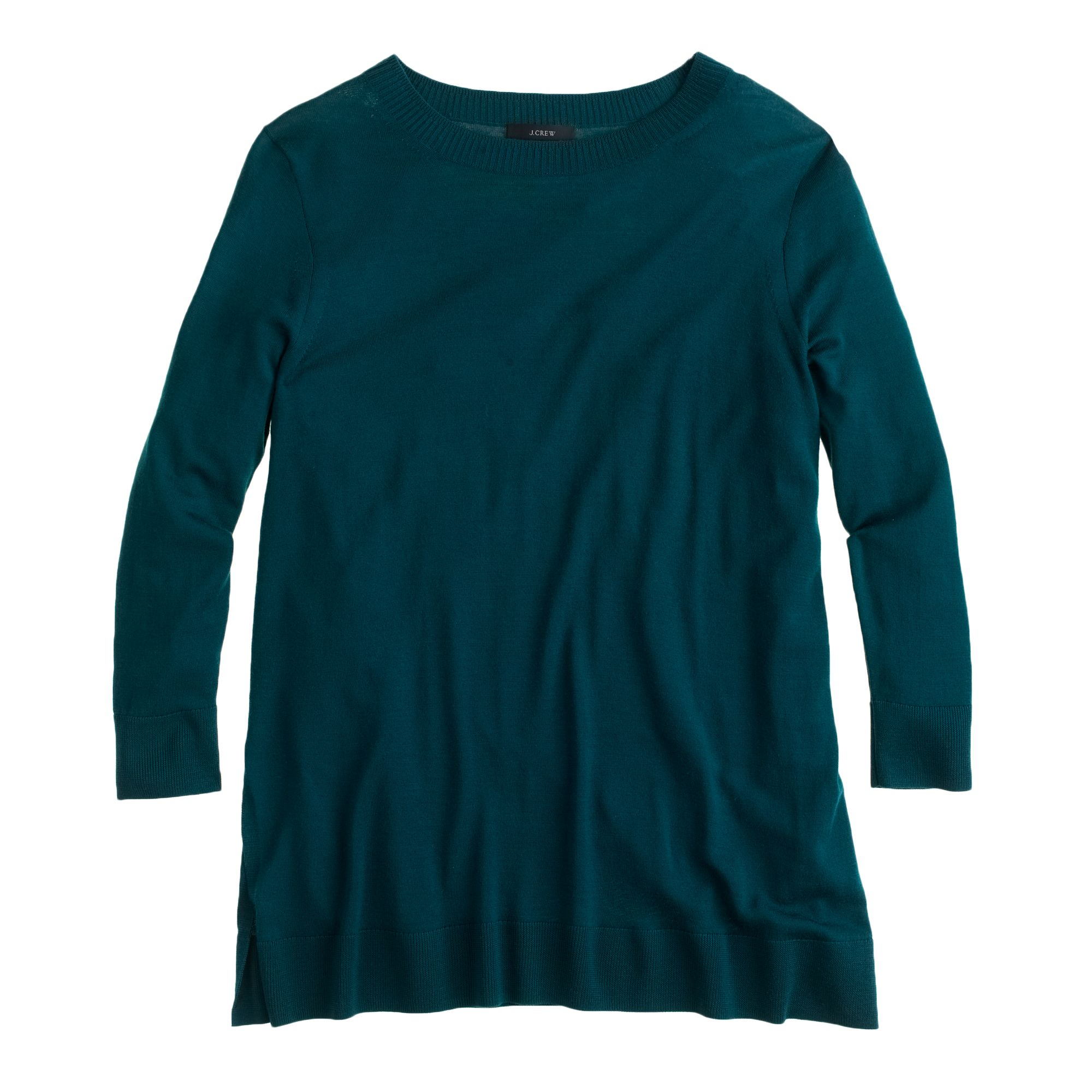 J.crew Lightweight Merino Tunic Sweater in Blue | Lyst