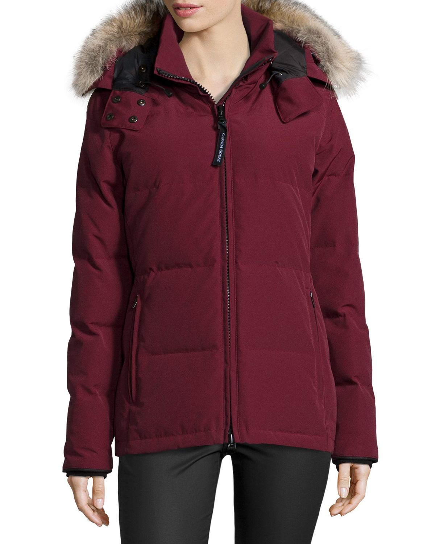 Canada Goose down online authentic - Canada goose Chelsea Fur-hood Parka Coat in Purple (BORDEAUX 317 ...