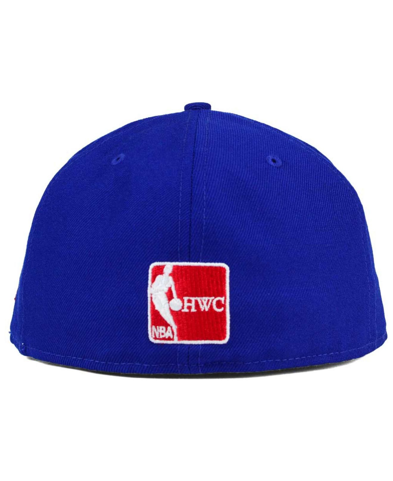 117c69fa2d2 ... discount code for lyst ktz detroit pistons classic wool 59fifty cap in  blue for men ff0e1