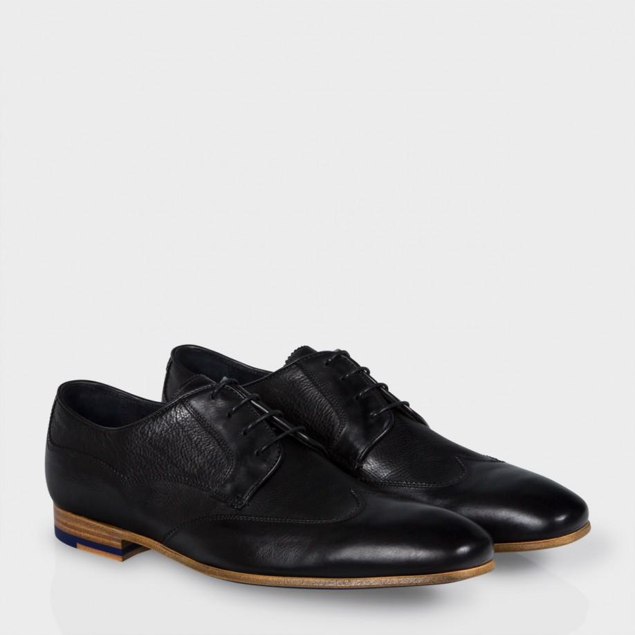 paul smith s black dip dyed calf leather wallace