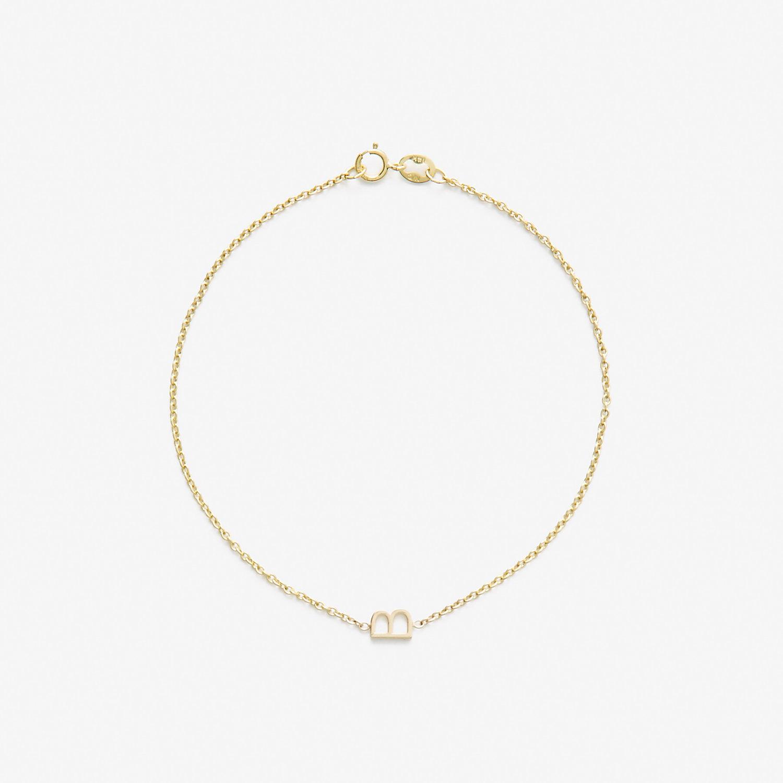 maya brenner designs letter b bracelet in metallic yellow With letter b bracelet