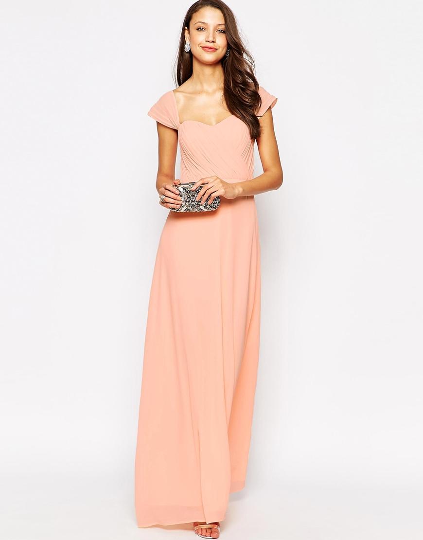 3b18bb4dcdf7 Lyst - Jarlo Florance Off The Shoulder Bandeau Maxi Dress in Pink