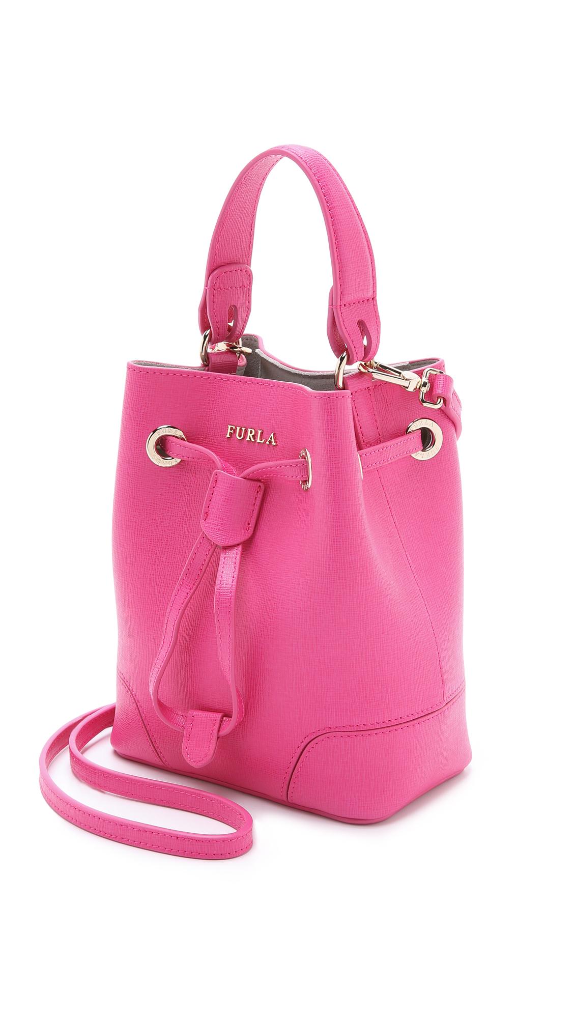 Lyst - Furla Stacy Mini Cross Body Bucket Bag - Magenta in Pink 1d8708c6f1ec0