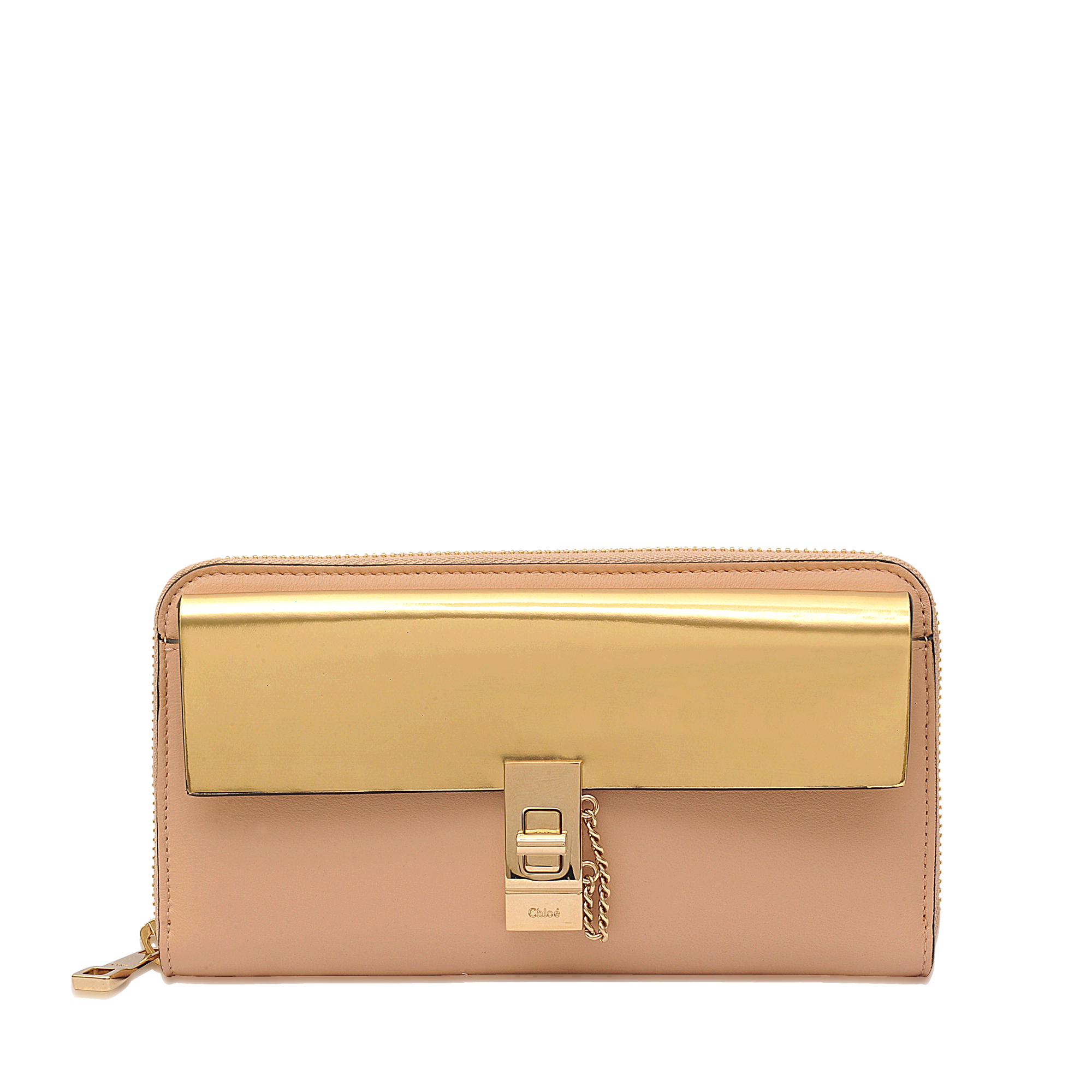 Chlo�� Drew Long Zipped Wallet in Beige | Lyst