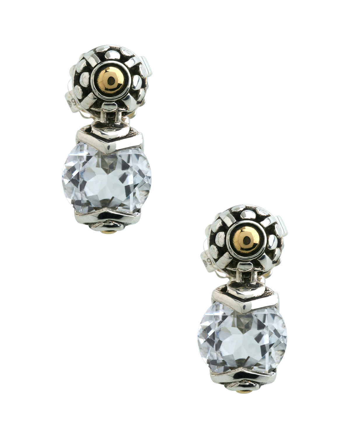 stud in gold jewelry round white mm topaz earrings