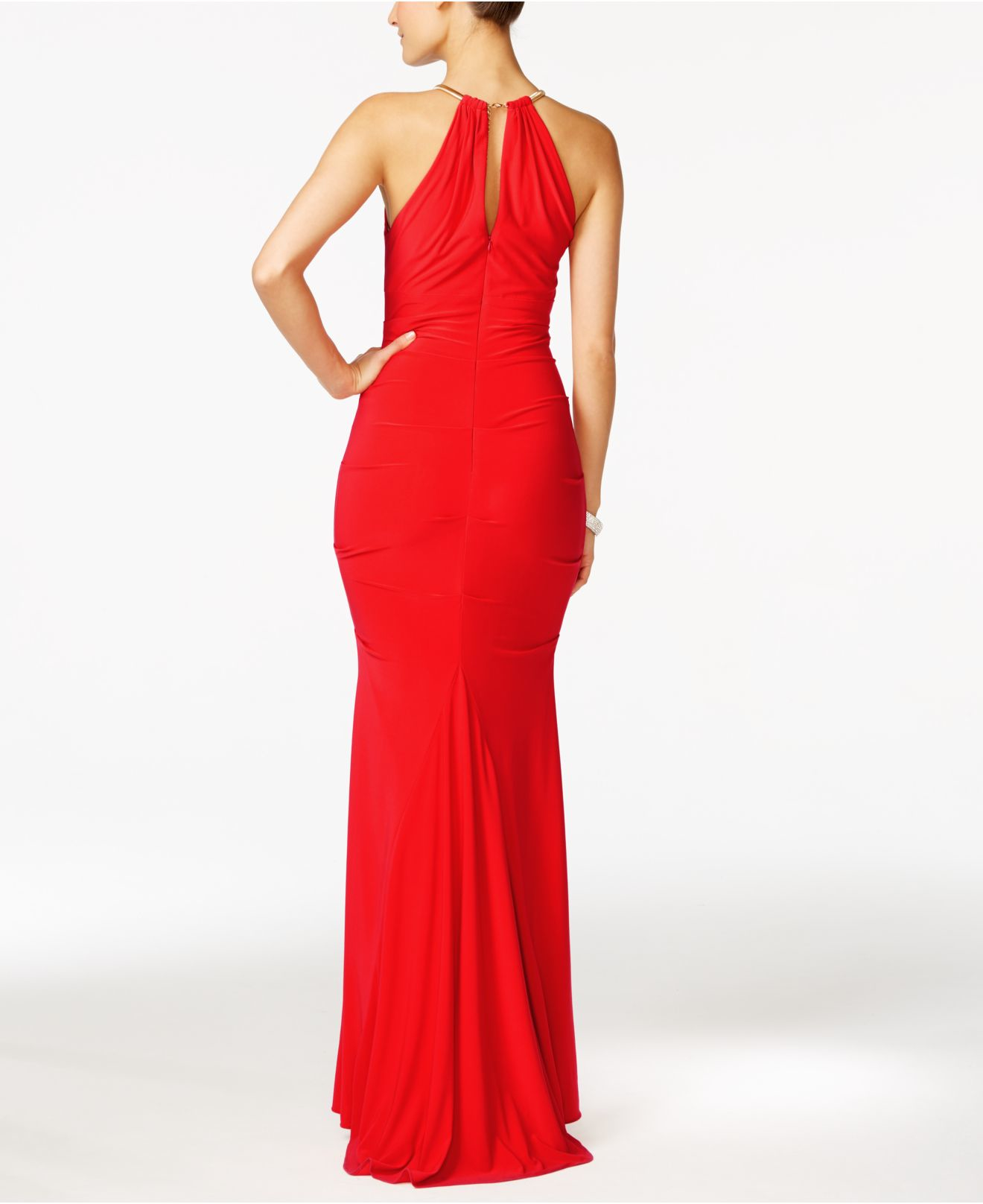Lyst - Xscape X By Halter Gown in Red