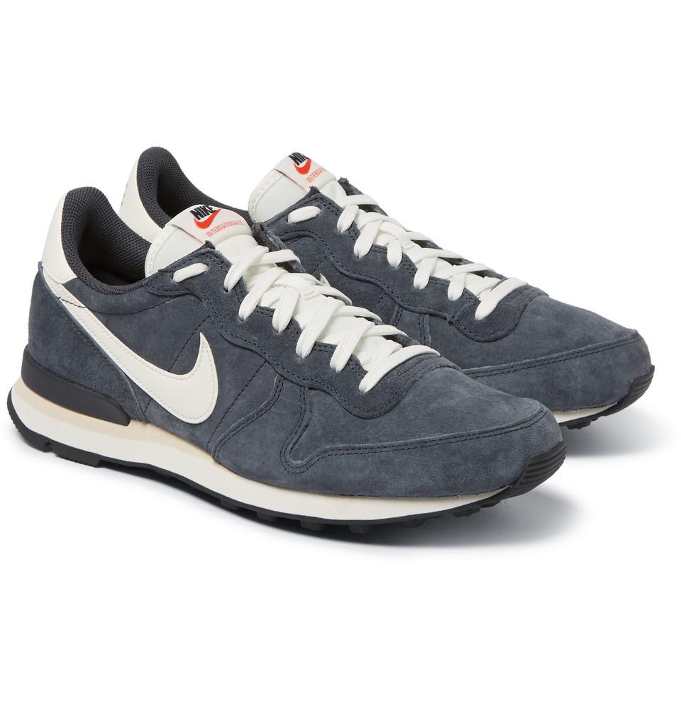 best cheap 86393 a00de Nike Internationalist Premium Suede Sneakers in Gray for Men - Lyst