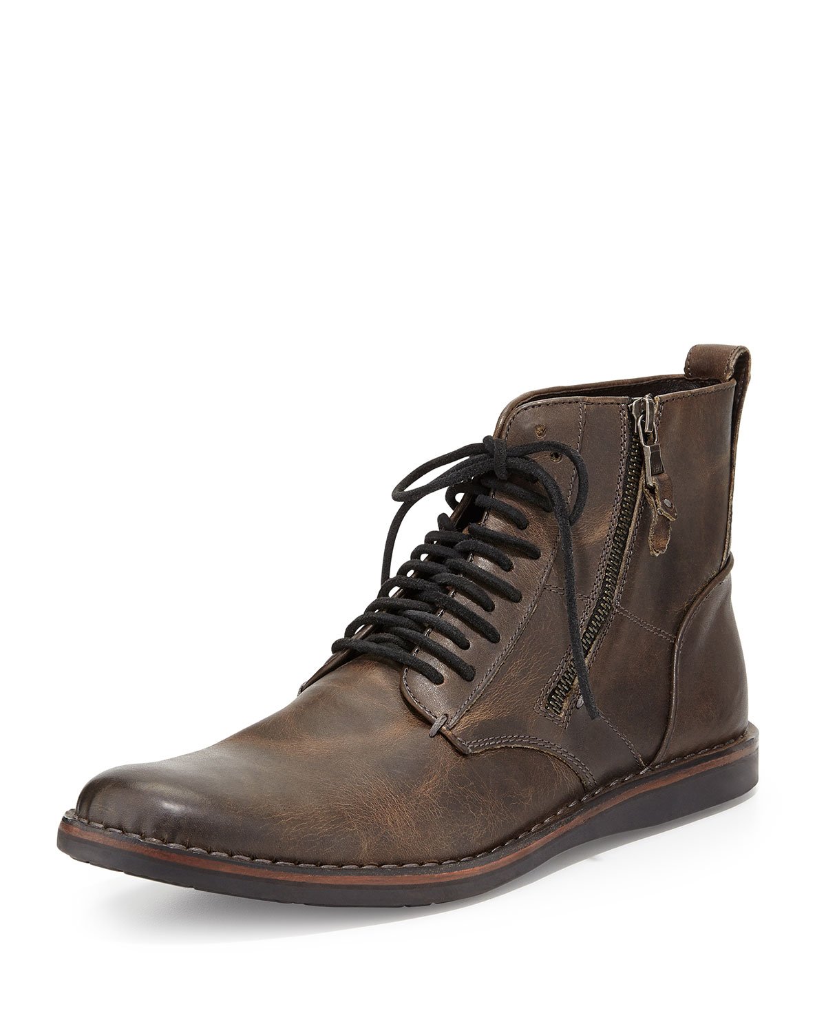 Lyst John Varvatos Barrett Side Zip Boot In Brown For Men