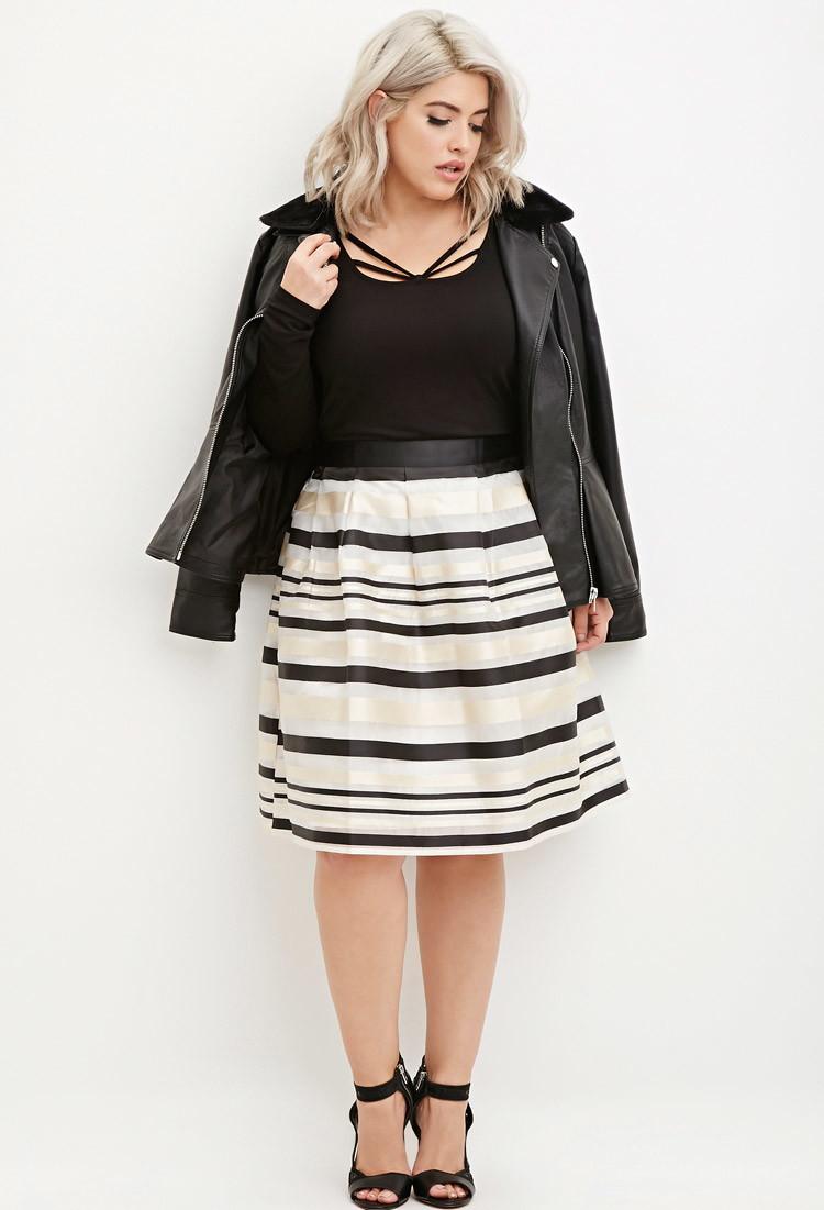 Plus Size Organza Skirts