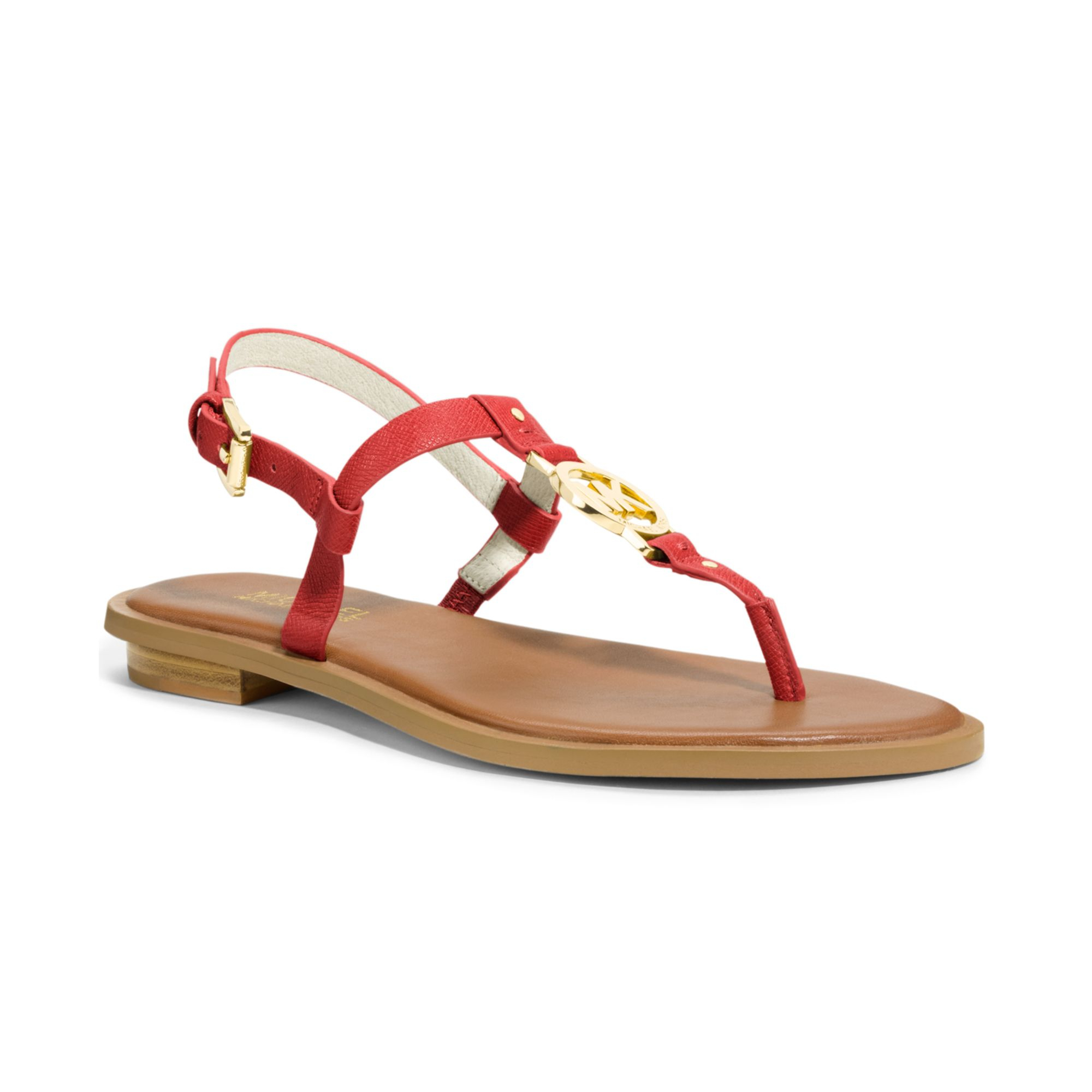 Lyst - Michael kors Michael Sondra Thong Sandals in Red