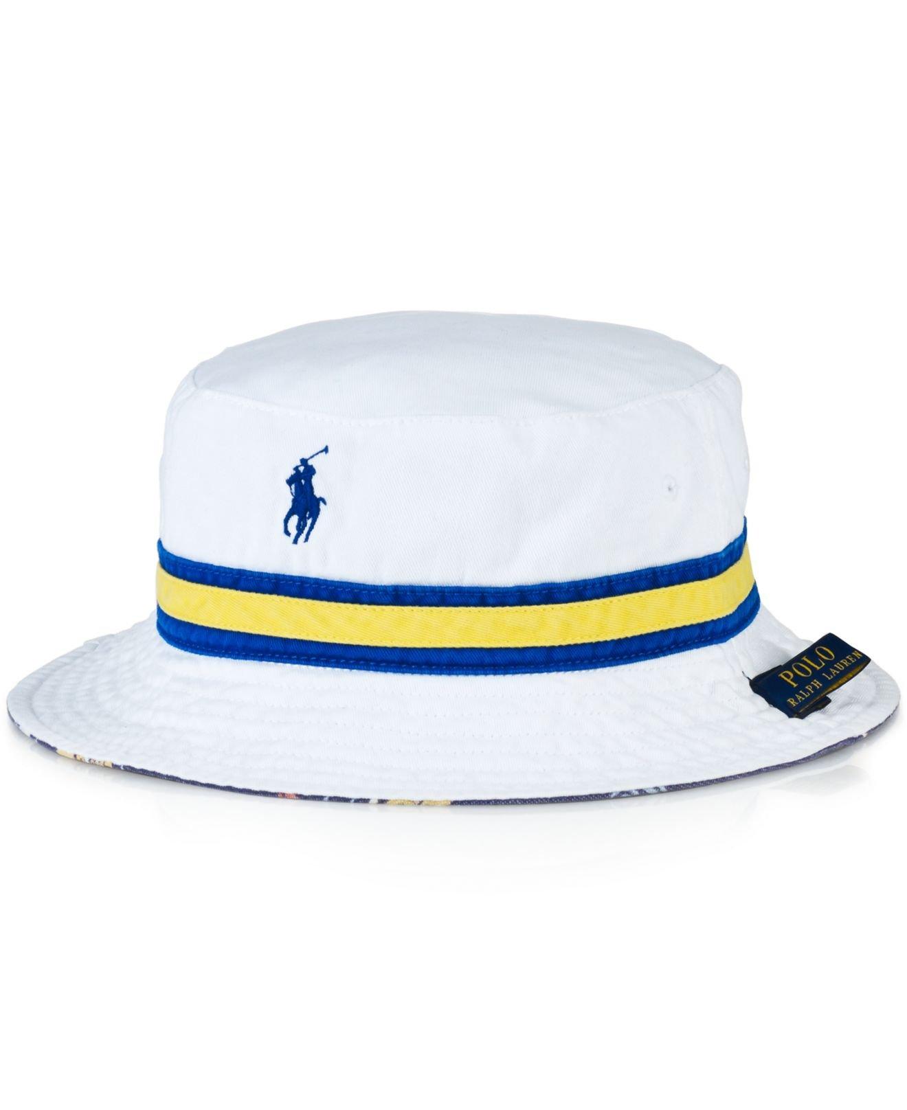 lyst polo ralph lauren reversible bucket hat in white