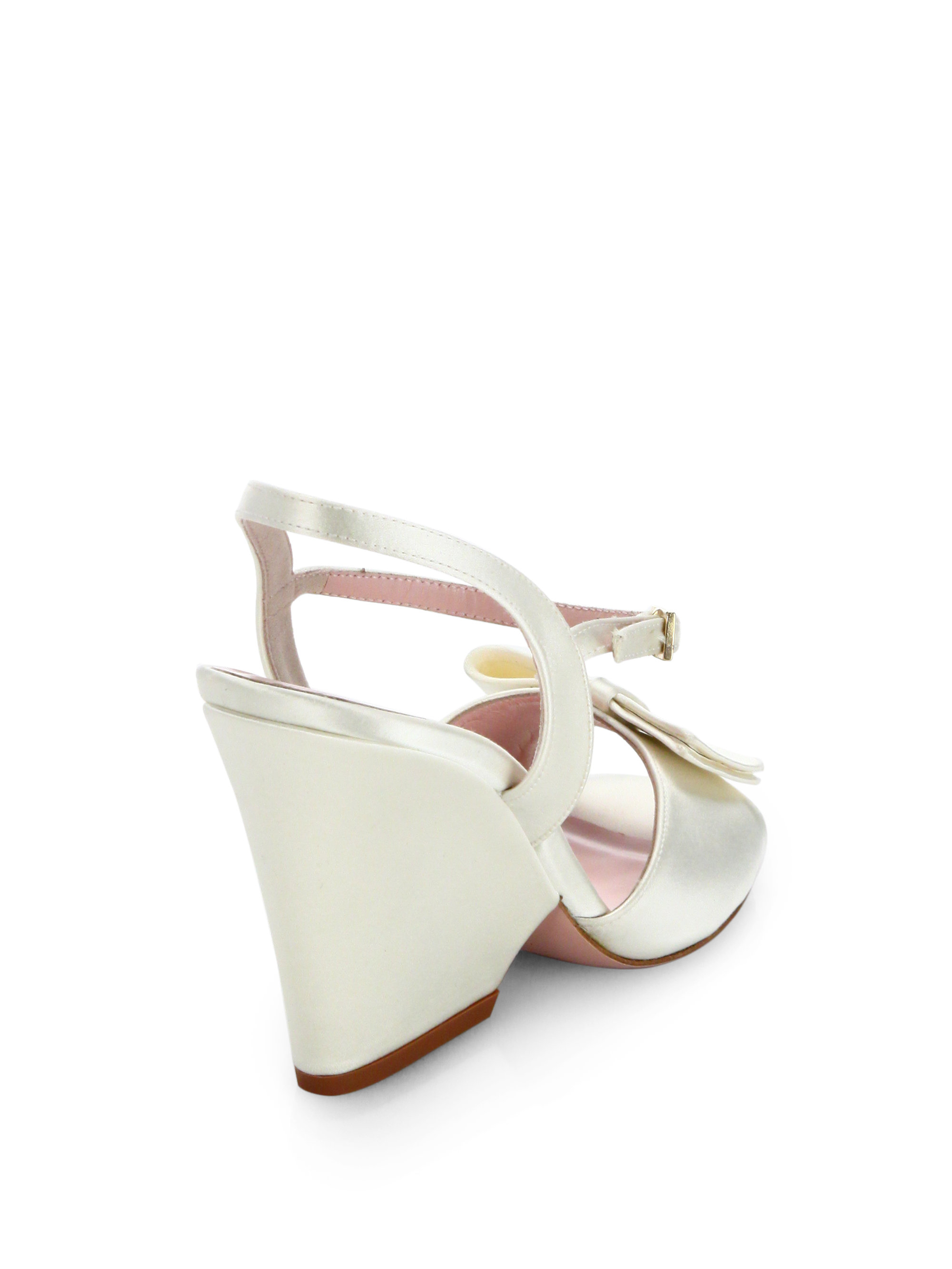 Kate Spade New York Satin Wedge Sandals outlet extremely clearance pick a best ZbLawKccnG