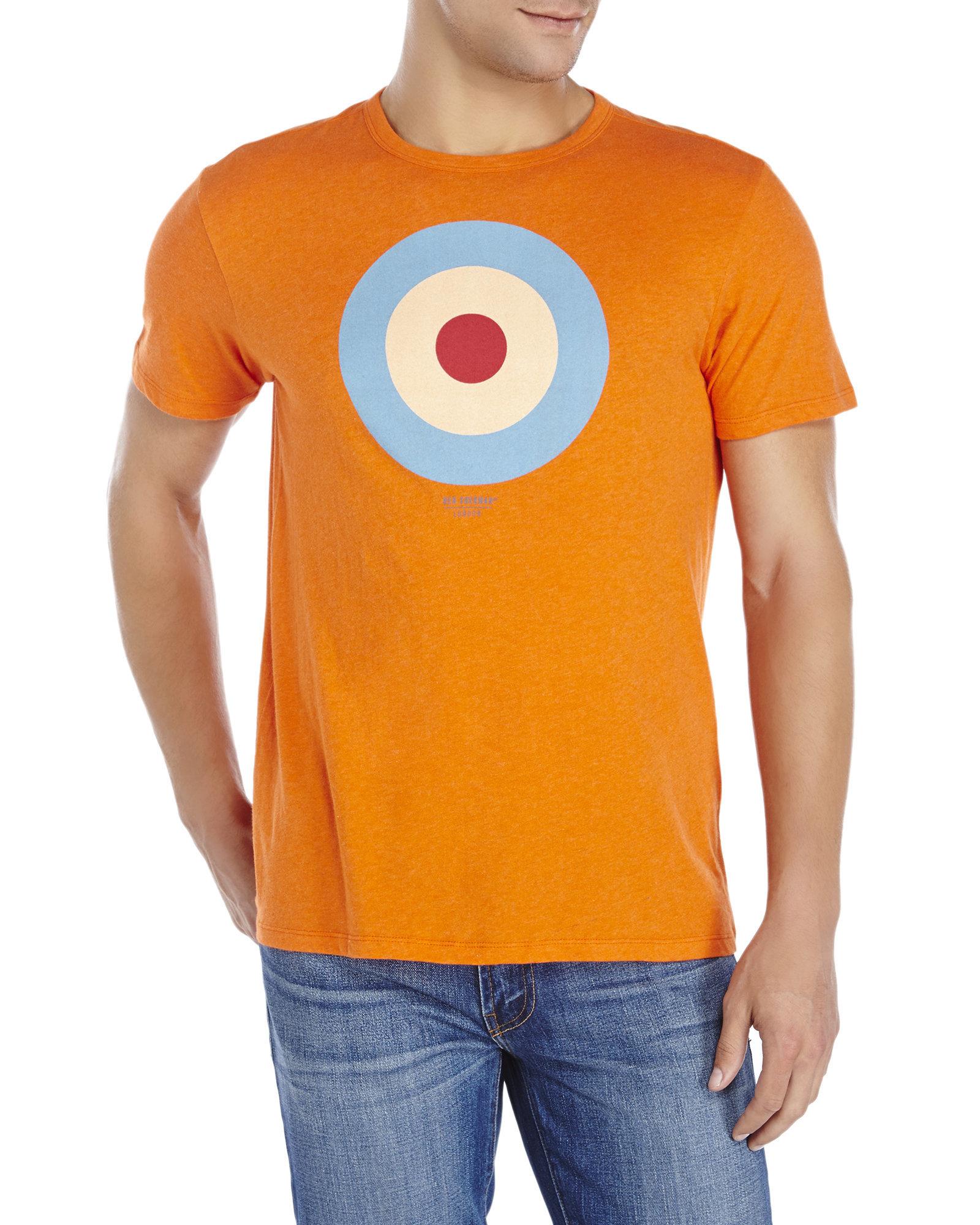 16c34e8c Lyst - Ben Sherman Deep Coral Target Tee in Orange for Men