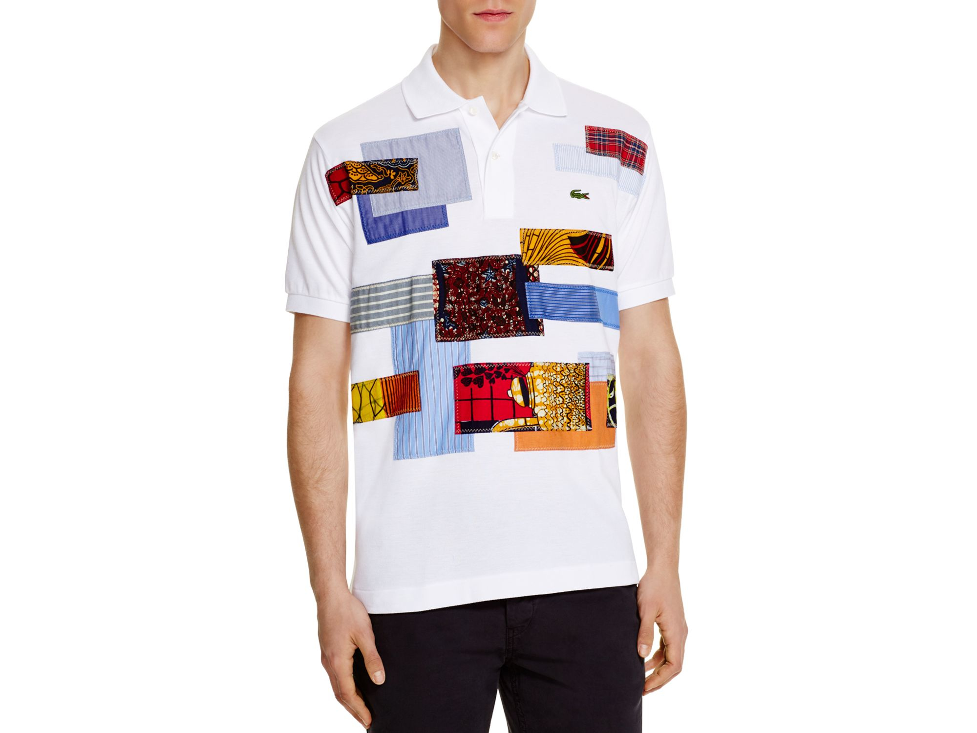 80d73b35c Junya Watanabe Lacoste Patchwork Regular Fit Polo Shirt in Brown for ...