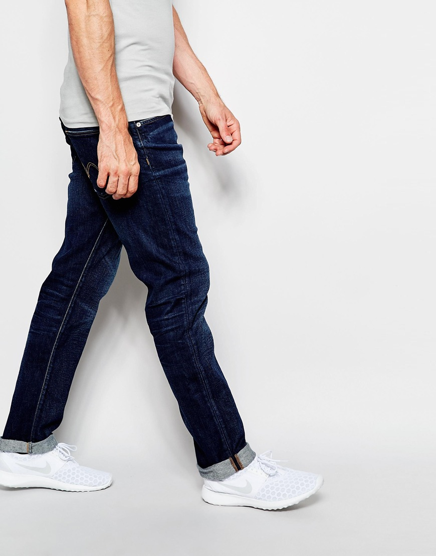 aab55c091f4cd Lyst - Edwin Jeans Ed-55 Relaxed Tapered Cs Night Blue Dark Ruffle Used in  Blue for Men
