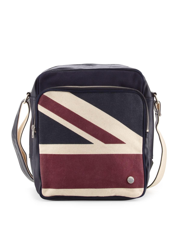 Sac reporter navy Union print messenger Bag K5R8KPhSHt