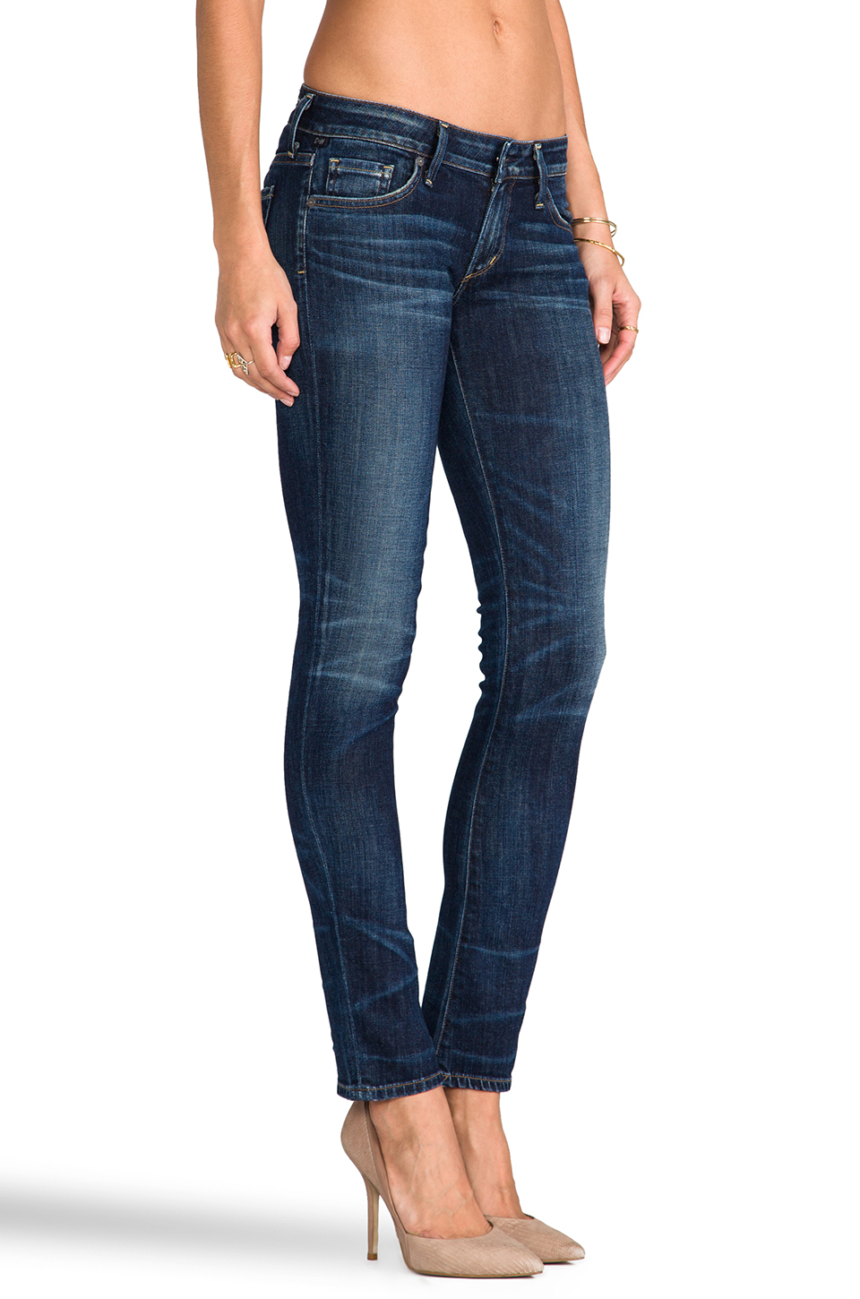 7bbf922c2757 Lyst - Citizens of Humanity Racer Low Rise Skinny in Blue