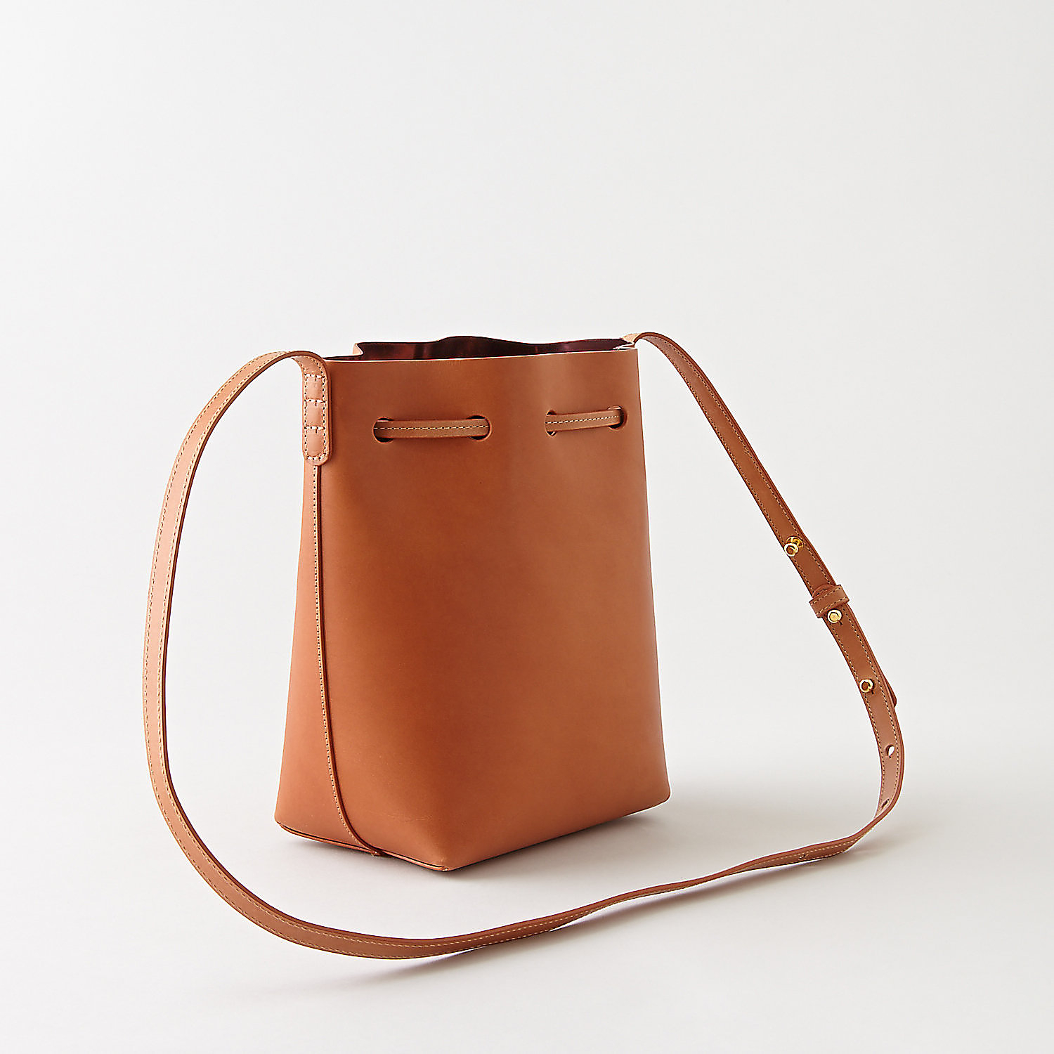 mansur gavriel mini bucket bag in brown cammello pewter. Black Bedroom Furniture Sets. Home Design Ideas