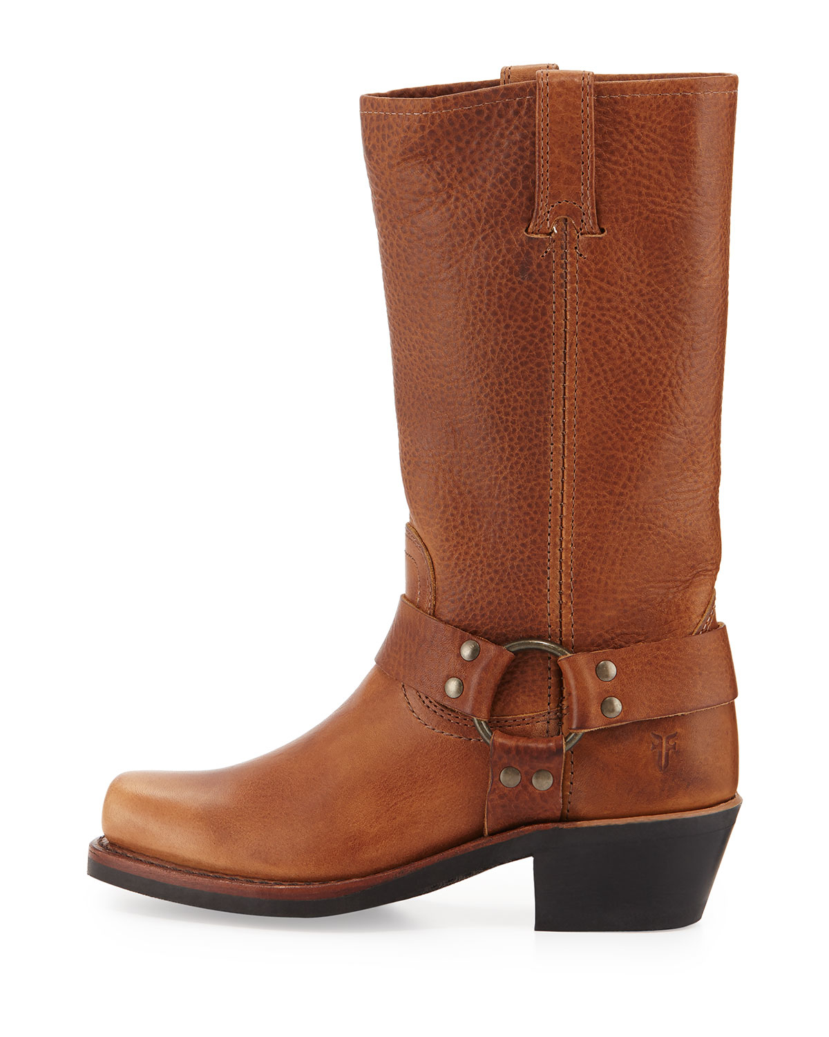 coach harness 12r leather boot in brown lyst