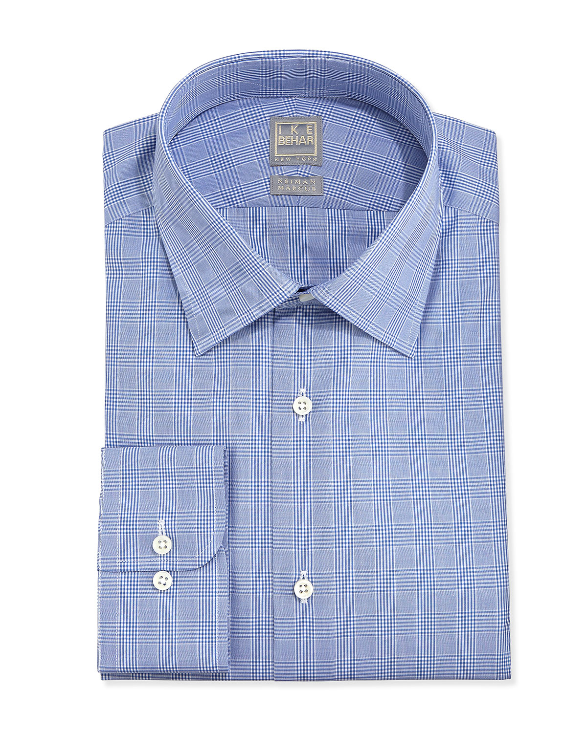 Ike Behar Woven Plaid Dress Shirt Periwinkle in Blue for ...