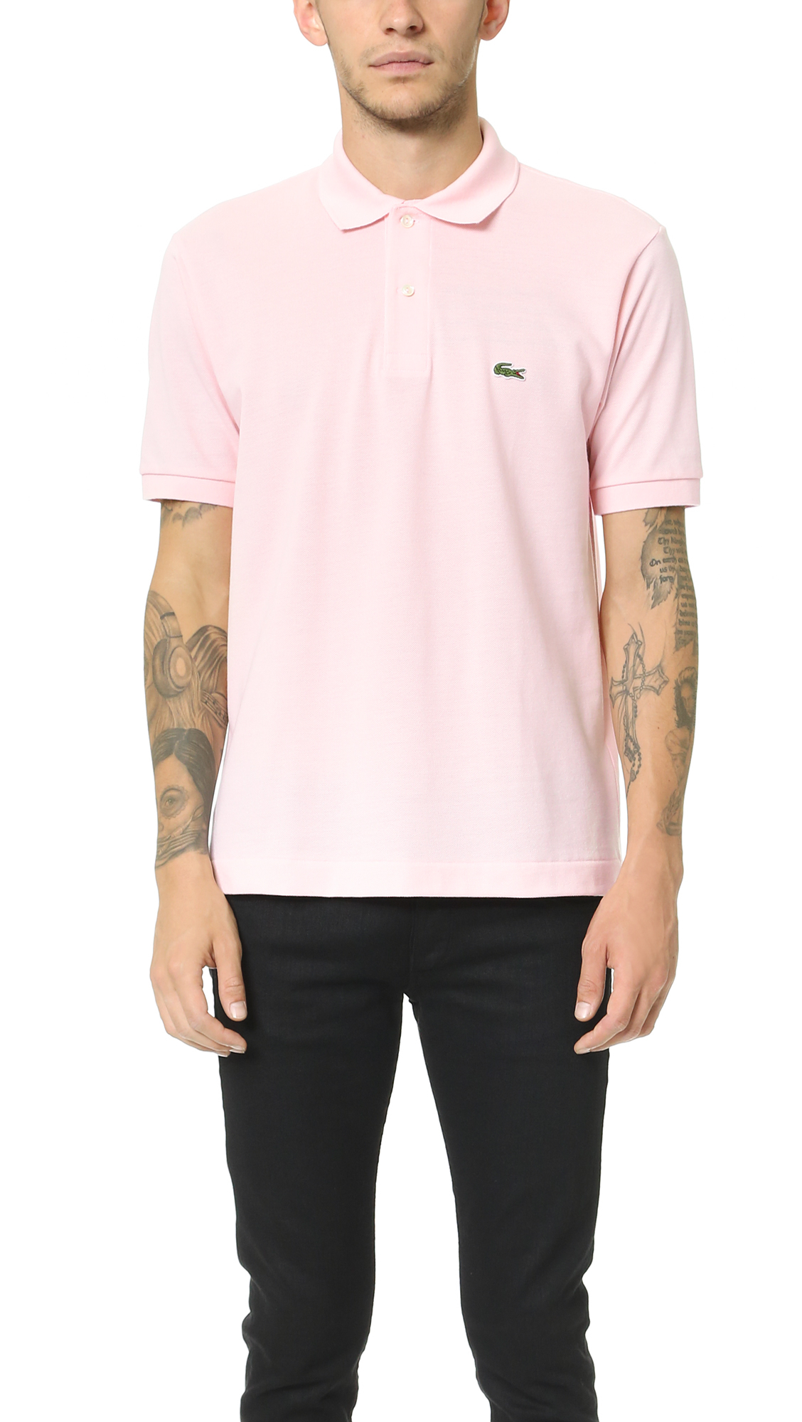Lacoste Short Sleeve Classic Polo Shirt in Pink for Men | Lyst