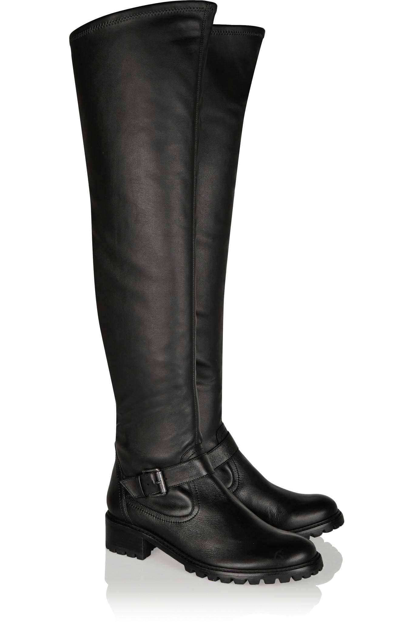 schutz leather knee boots in black lyst