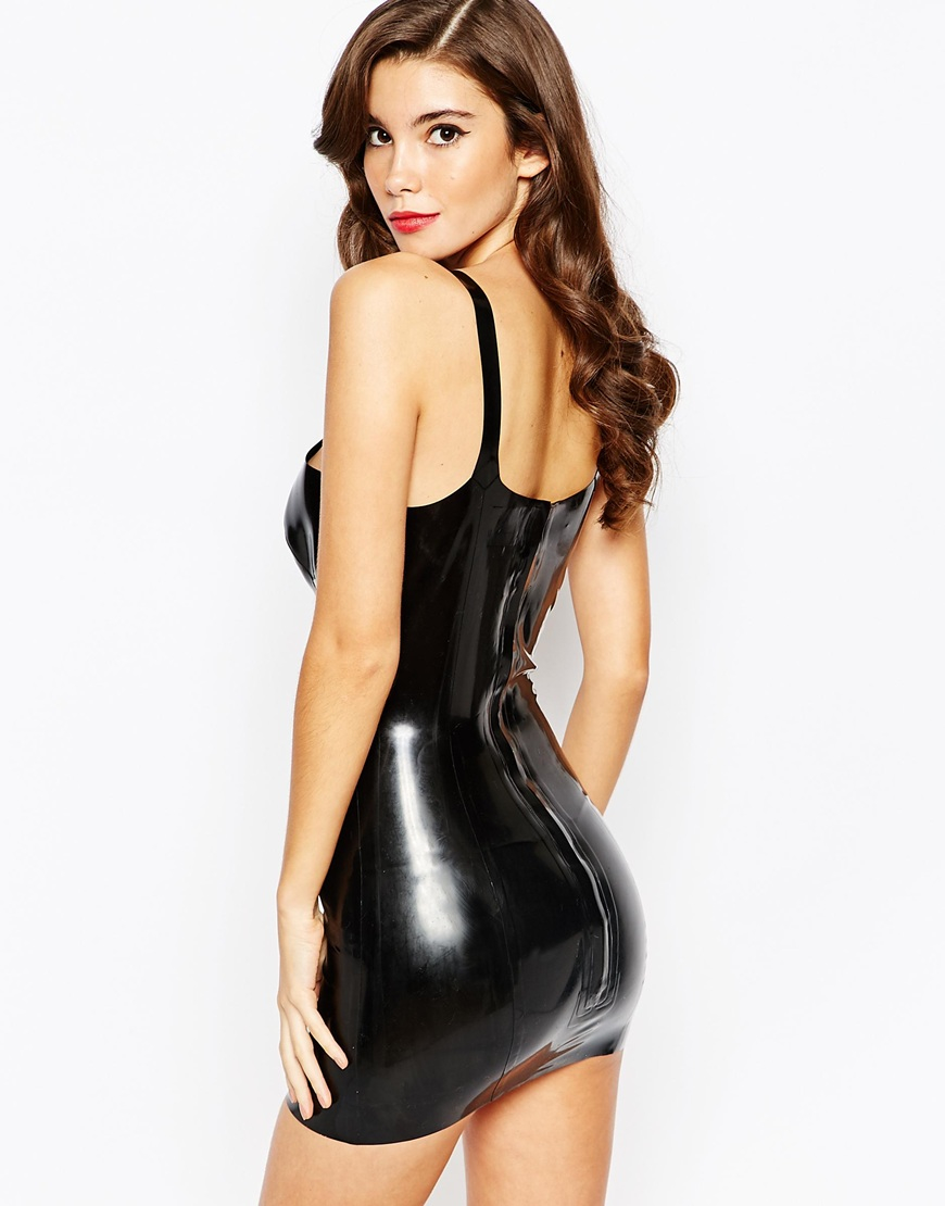 Dress black latex