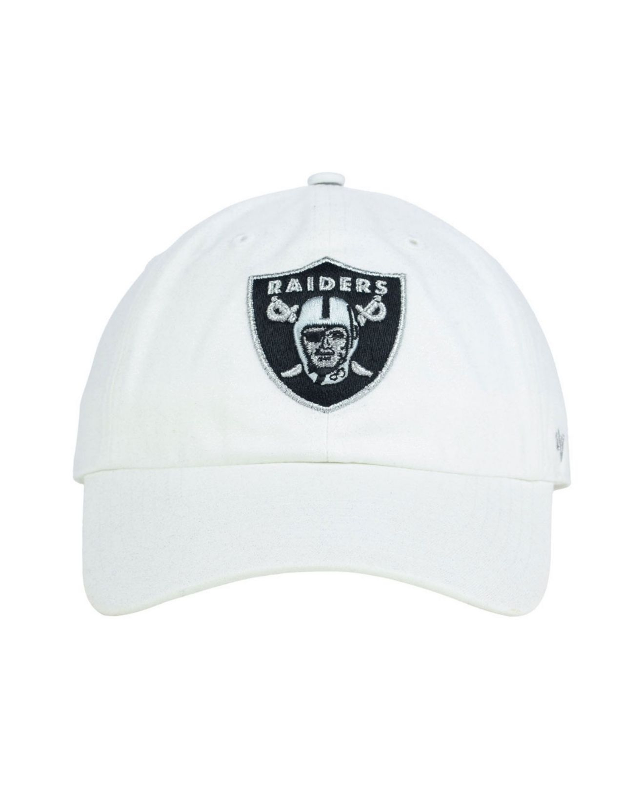 Lyst - 47 Brand Women s Oakland Raiders Luster Clean Up Cap in White 2e1c905267