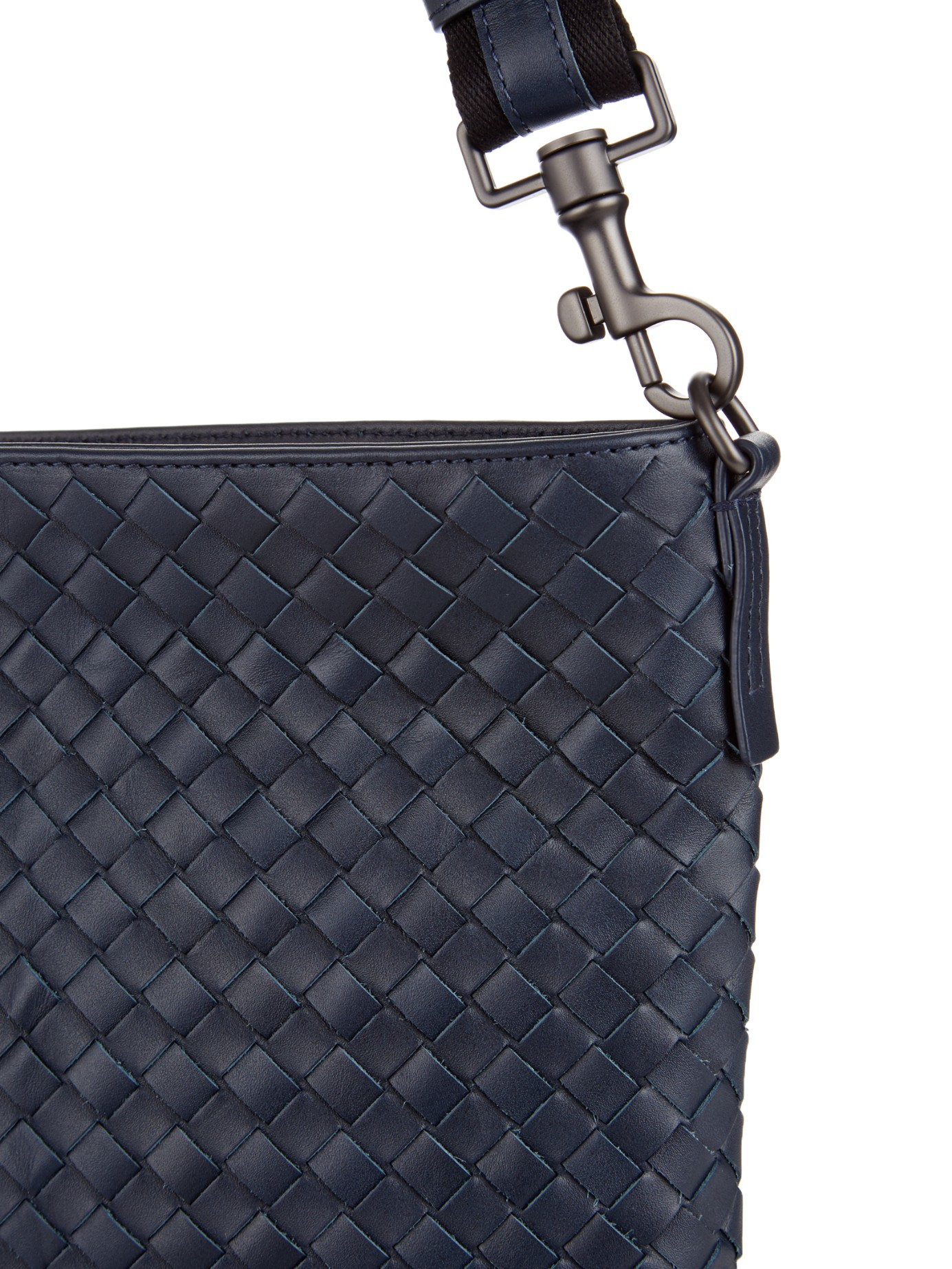 Bottega Veneta Messenger Medium Intrecciato Leather Tote Replica