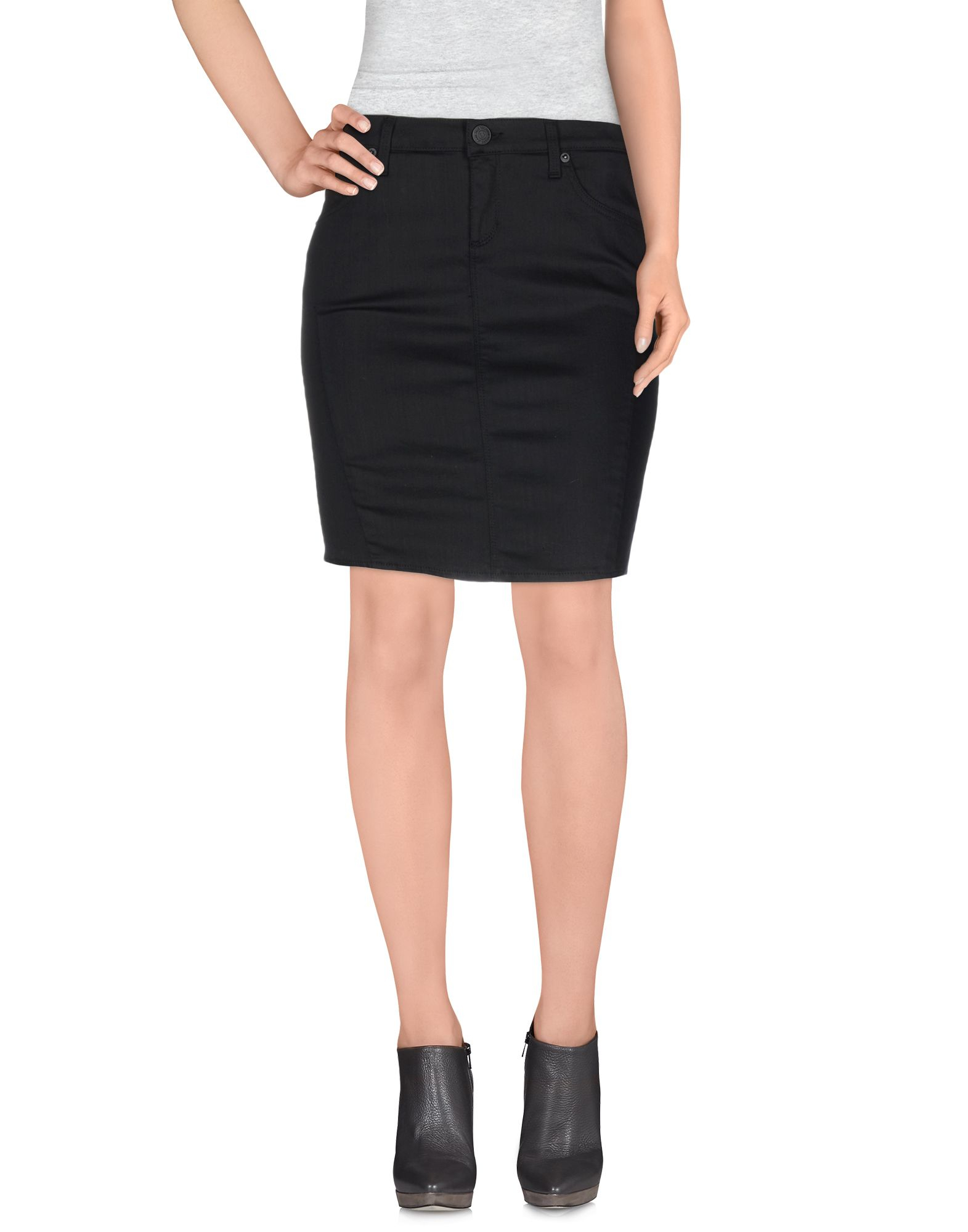true religion denim skirt in black lyst