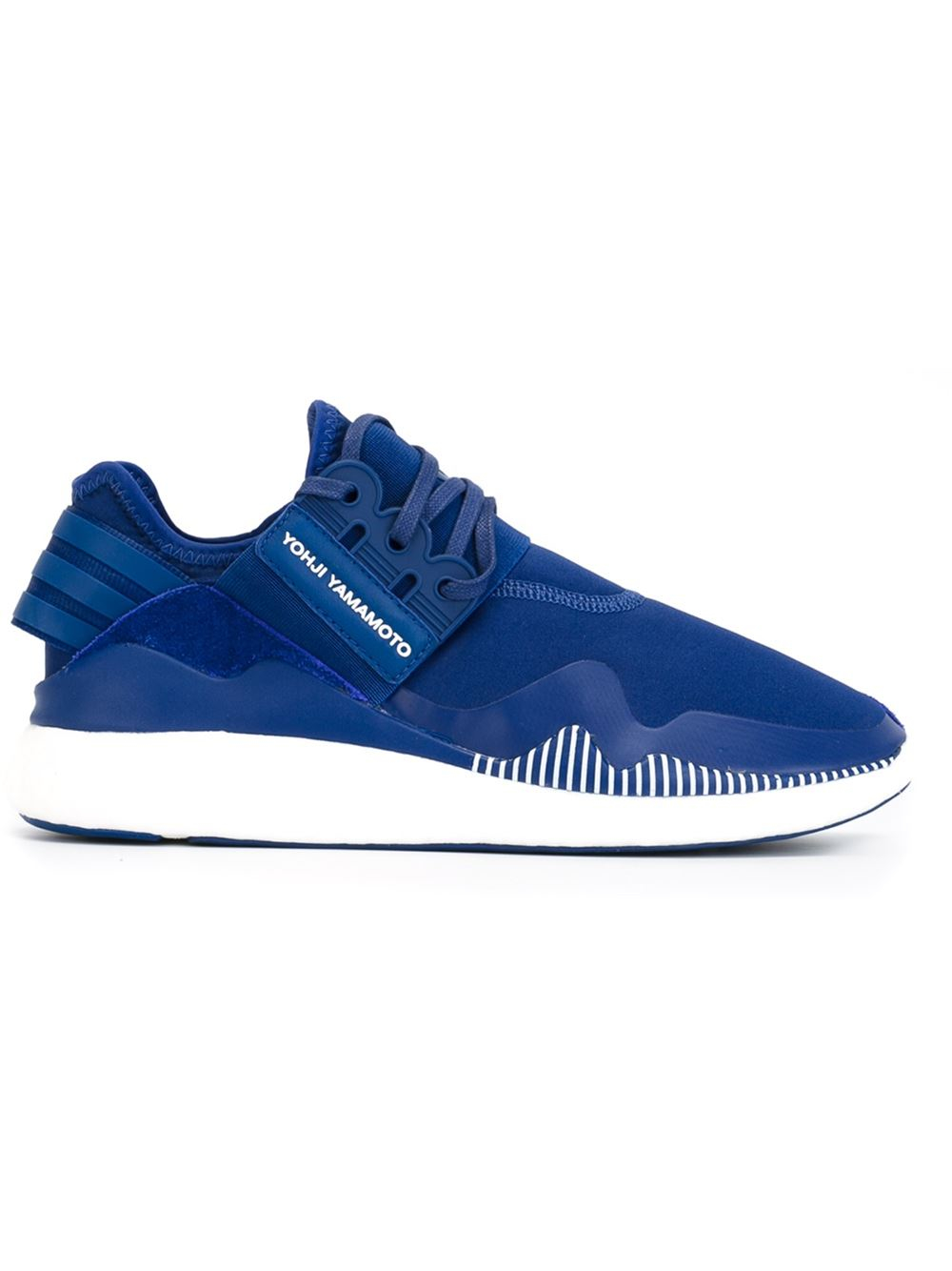 y 3 retro boost sneakers in blue for men lyst. Black Bedroom Furniture Sets. Home Design Ideas