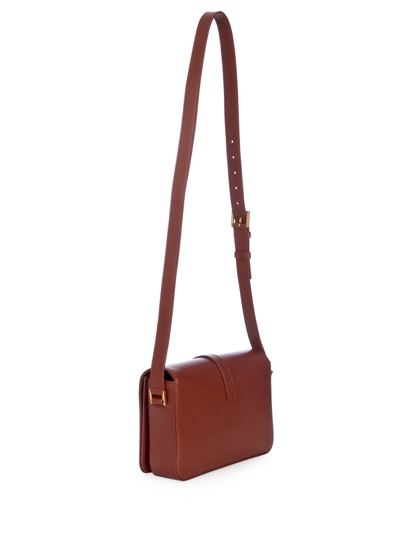 3a005c011879 Lyst - Saint Laurent Université Medium Leather Cross-body Bag in Brown
