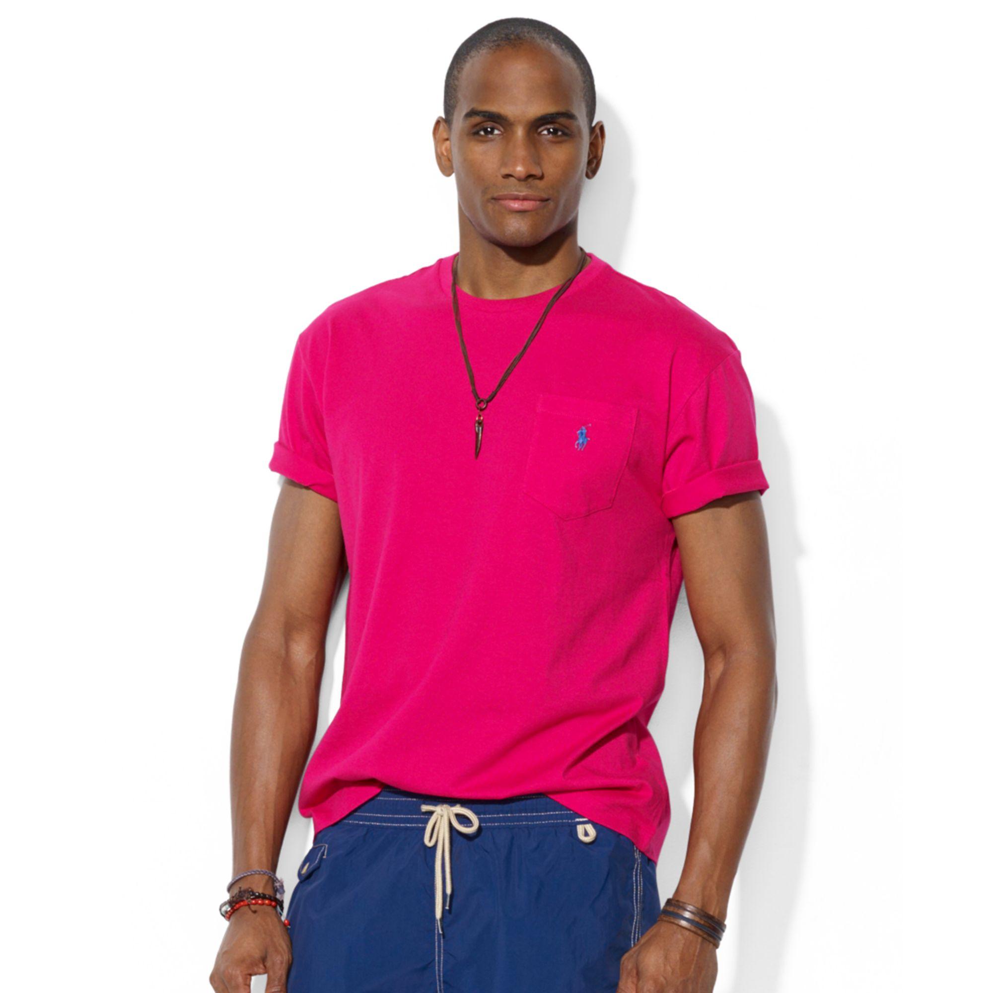 Lyst - Ralph lauren Polo Classicfit Cotton Jersey Pocket Tshirt in ...